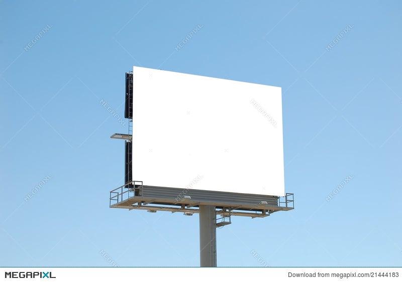 Square Blank Billboard Stock Photo 21444183 - Megapixl