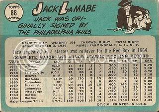 #88 Jack Lamabe (back)