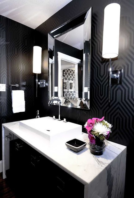 Mallin Cres - Powder Room - contemporary - bathroom - other metro