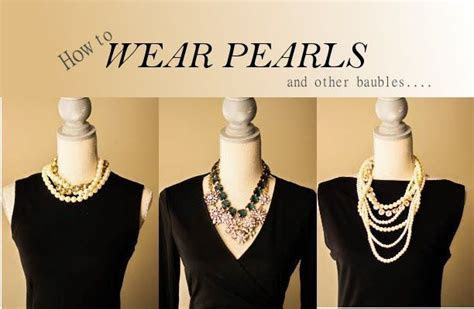 how to wear pearls and accessorize your little black dress