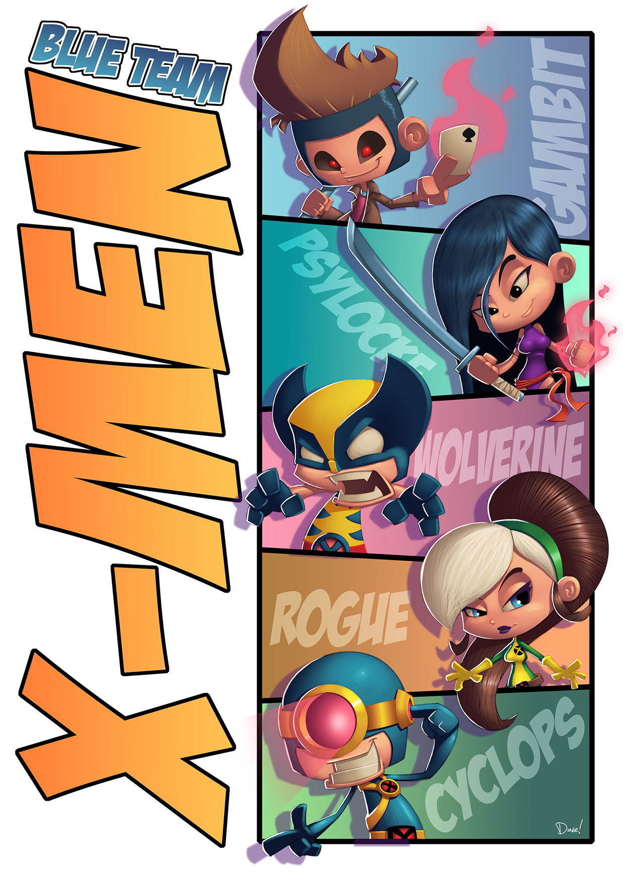 X-Men Blue TeamCreated by Dave Atze
