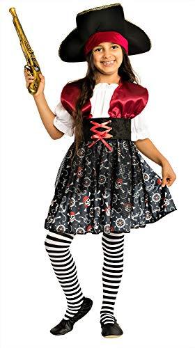 Kinder Captain Jack Piraten Set mit Hut /& Bart Augenklappe Schwert Halloween