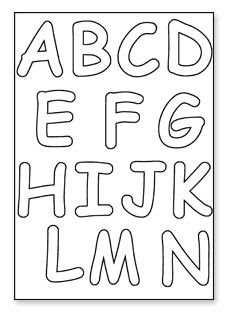 Letters To Print And Cut Out | 6a. Cut Out Letters - Downloads ...