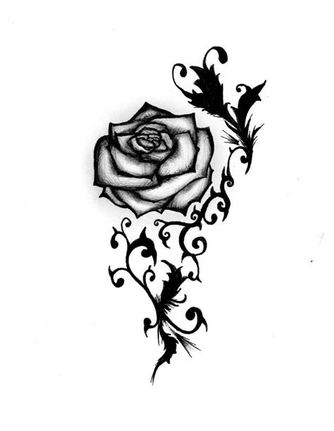 rose tattoo designs clipart