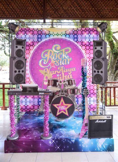 Kara's Party Ideas Purple Girly Rock Star Birthday Party