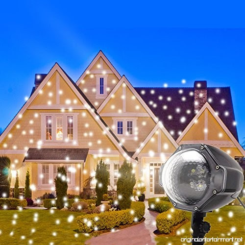Led Snowflake Projector Lights Christmas Projector Outdoor Snowfall