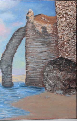 My acrylic seascape painting