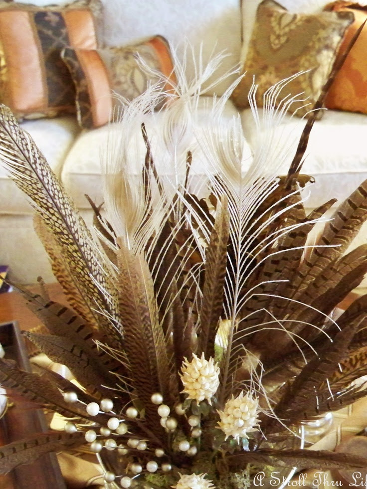 feather arrangment , bar/man cave lounge look