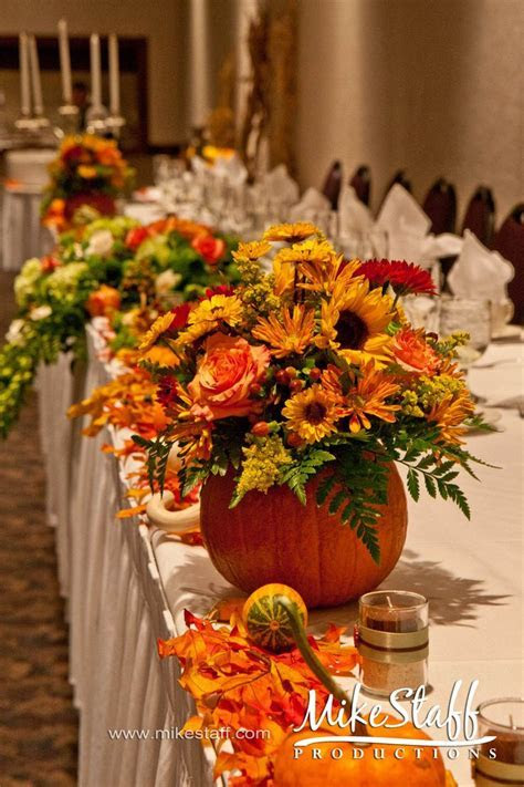 pumpkin wedding centerpieces   variety. There is no rule