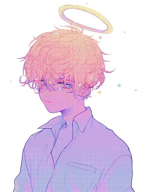 sticker anime aesthetic rainbow sad pastel japan boy