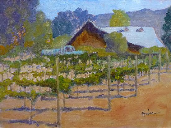 Talbot Vines, Carmel Valley by Patricia Huber Oil ~ 12 x 16