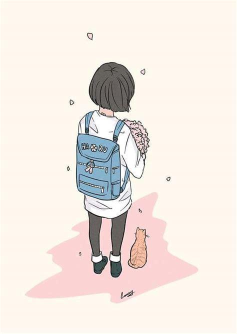 original anime girl aesthetic drawing wallpaper