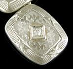 Art Deco diamond cufflinks. (J9222)
