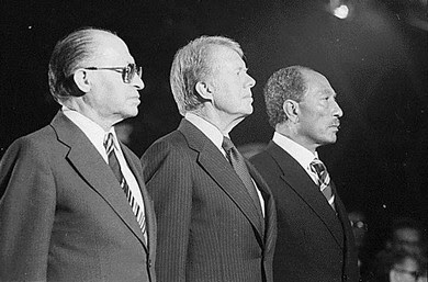 Begin, Carter, Sadat at Camp David.