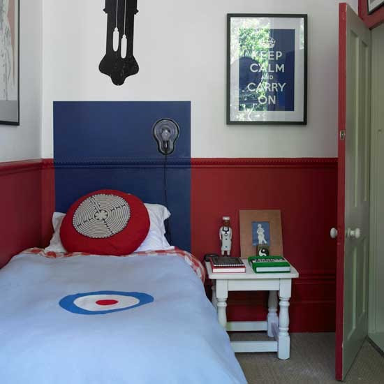 Classic red and blue boys bedroom  Boys bedroom ideas and decor inspiration  housetohome.co.uk