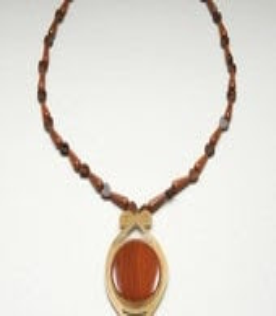 14k Gold-filled Red Jasper Pendant Pin Necklace