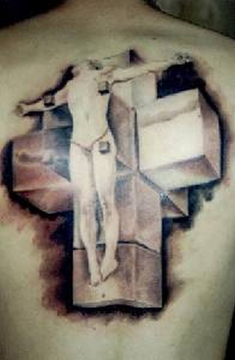 3d Jesus Cross Tattoo On Back Tattoos Book 65000 Tattoos Designs