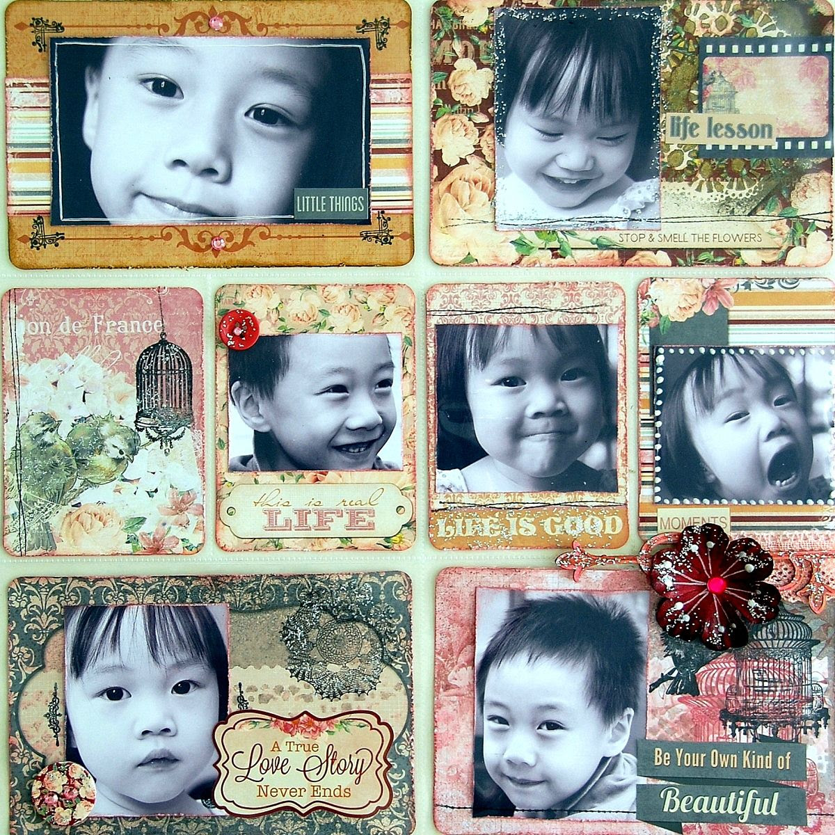 Life Is Better When You're Laughing Misc Me Pages by Irene Tan using BoBunny Madeleine Collection