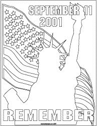 9/11 Coloring Pages - 9/11/01 Memorial Rememberance Coloring Page ...