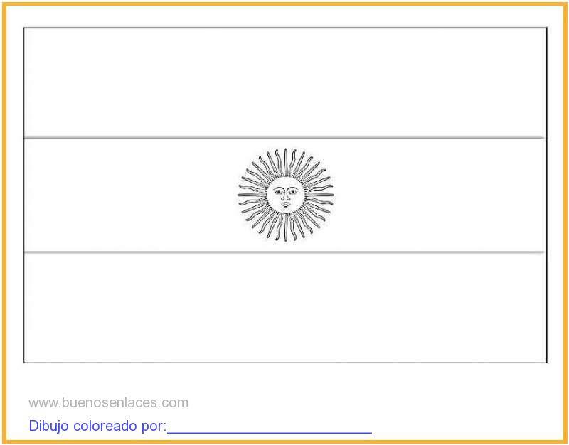 Dibujo De Bandera De Argentina Para Colorear E Imprimir