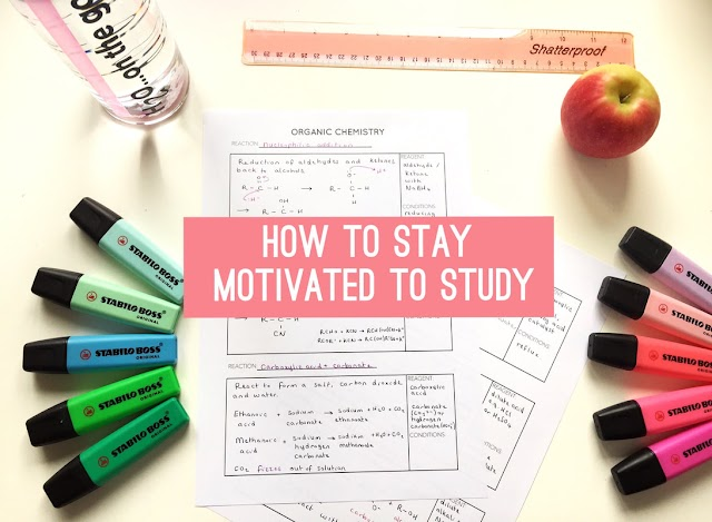 STAYING MOTIVATED WHILE STUDYING