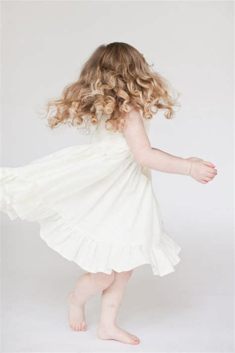 Flower Girl Dress, White Flower Girl Dress, Ivory