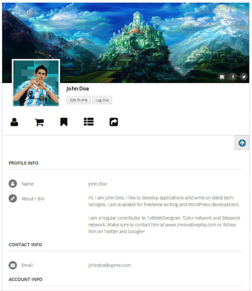 You can use UPME to create a responsive front-end profile with unlimited custom fields