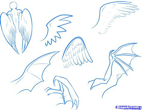 draw anime wings draw  anime angel step  step