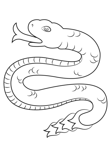 Dibujo De Coatl Serpiente Del Calendario Azteca Para Colorear