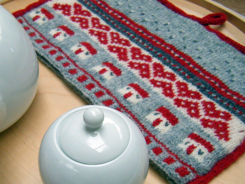 Home Sweet Home Tea Cosy Knitting Pattern PDF