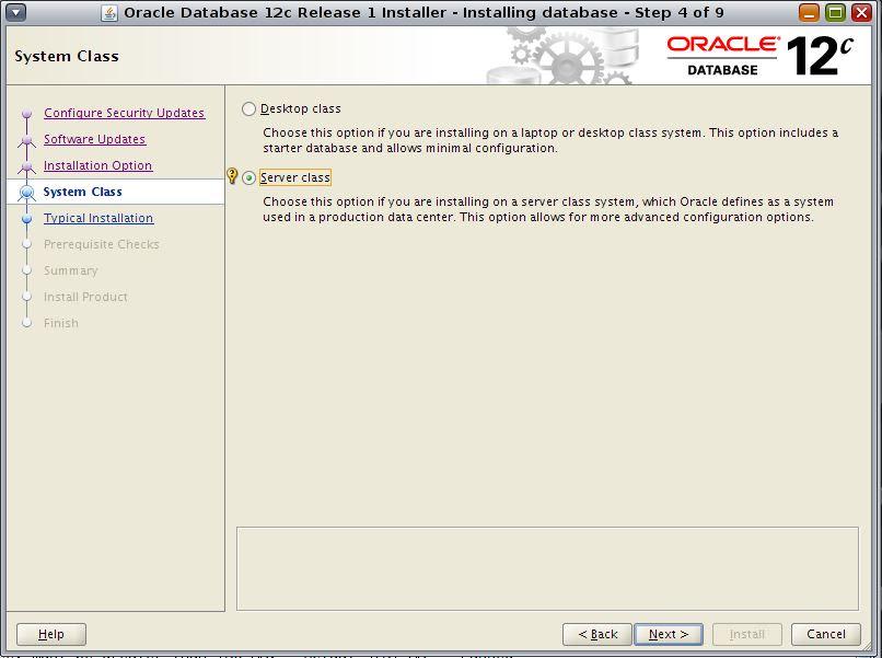 Oracle 12c db installation