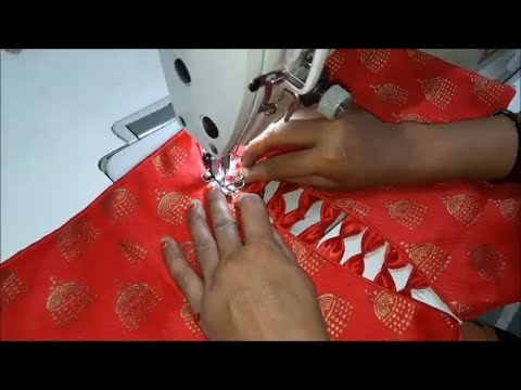 model blouse design|cutting and stitching back neck