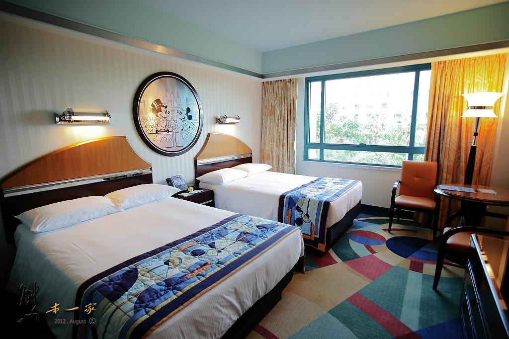 【香港住宿】迪士尼好萊塢酒店 房型~家庭四人房設施