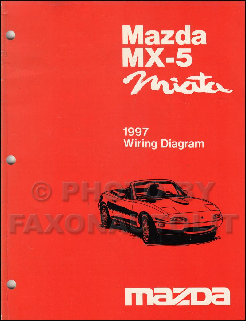 1997 Mazda MX-5 Miata Wiring Diagram Manual Original