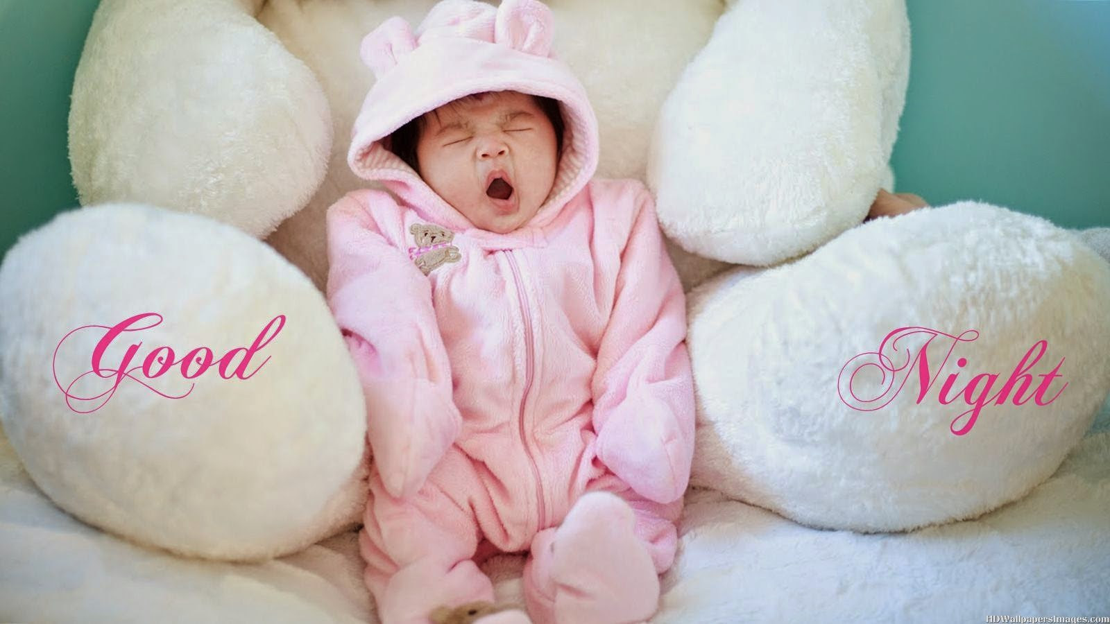 Download Cute Yawing Baby Goodnight Wallpapers Good Night