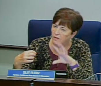 State Board member Sue Burr said that requirements of the Local Control Funding Formula should drive the state's plan for school accountability, not the federal Every Student Succeeds Act.