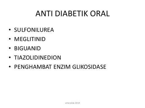 anti diabetik oral