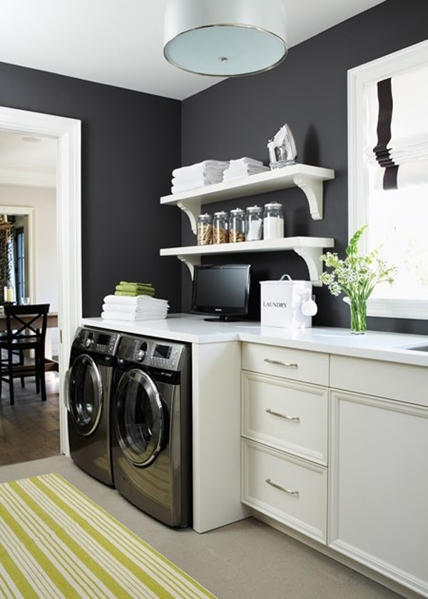 Black And White Laundry Room Furniture Home Design And Interior