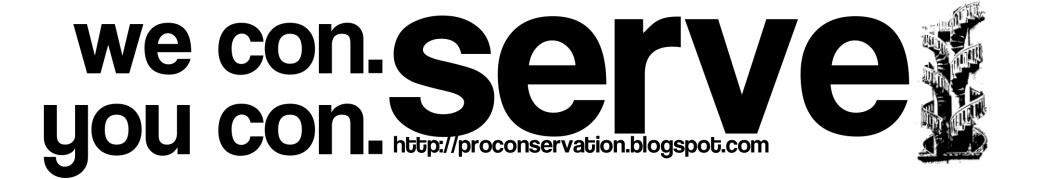 we conserve. you conserve