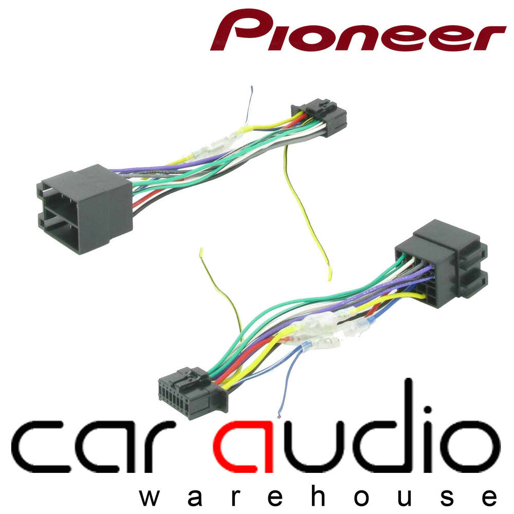 Pioneer 16 Pin ISO Head Unit Replacement Car Stereo Wiring ...