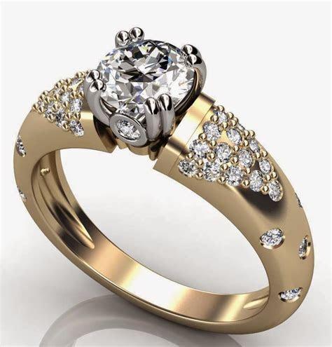 Women?s Diamond Thick Wedding Rings Gold Design