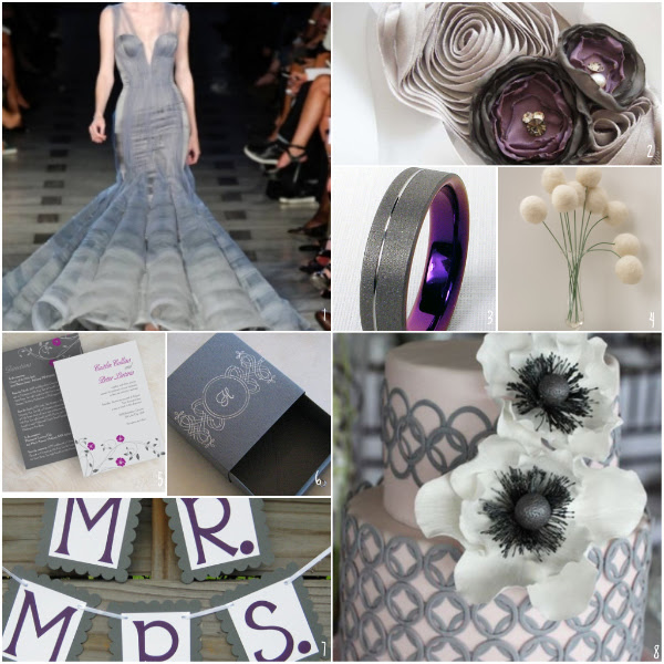 This week 39s ETSY Obsession is Gray and Purple Inspired Weddings