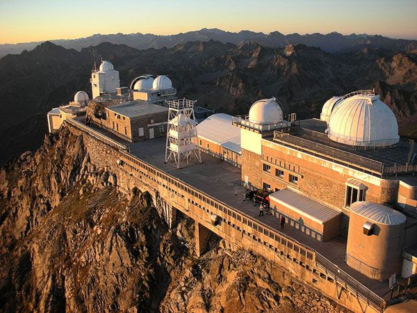 The Pic du Midi Observatory, which is situated atop a mountain in the French Pyrenees.