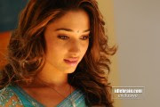 Hot Tamanna Pics in Blue Saree
