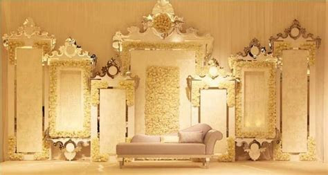 Mirror frame design   Toronto Indian Weddings Decor