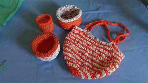haekeltasche aus plastiktueten crocheted bag