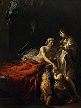 Jacob Blessing the Sons of Joseph by Adriaen van der Werff Cir 1728