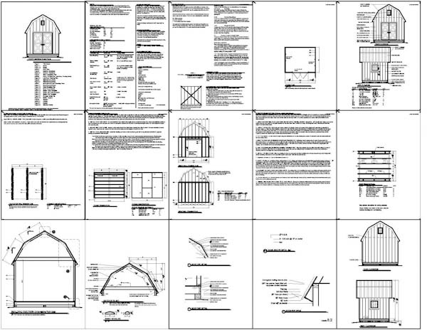 Gambrel Roof Shed Plans 12x20 Small Storage Shed Ideas