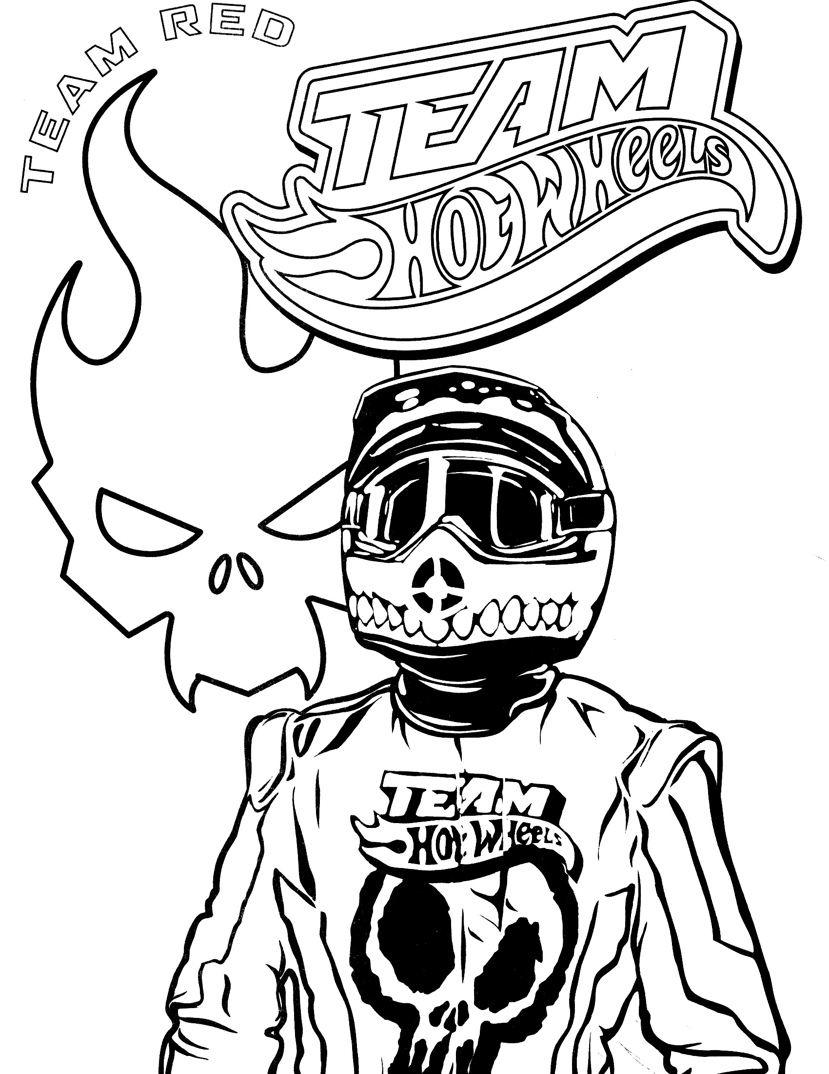 Team Hot Wheels Coloring Pages At Getdrawingscom Free For