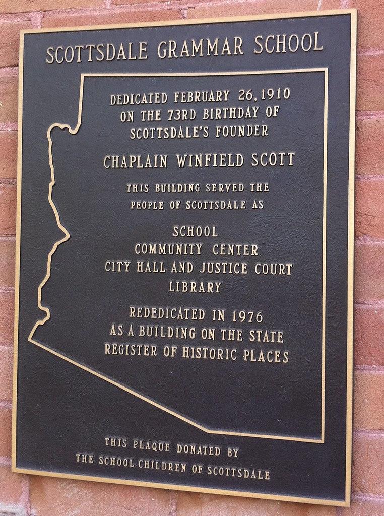 Arizona Historical Marker - Scottsdale Grammar School